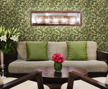 текстильные обои в дизайне интерьера
